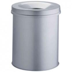 DURABLE Corbeille à papier DURABLE SAFE, rond, 15 litres, argent