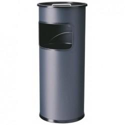 DURABLE Corbeille à papier METAL Avec Cendrier Ronde H62 cm Anthracite