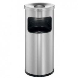 DURABLE Cendrier Poubelle SAFE Métal couvercle étouffoir H63cm x Diam 25cm Argent