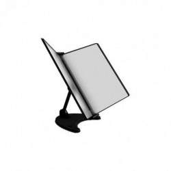 TARIFOLD Pupitre Métal TDisplay 3D Multidirectionnel avec 10 poches Noir