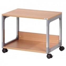 DURABLE Table de bureau mobile Multi Trolley 48 avec 2 tablettes 60x44x44 cm Hêtre