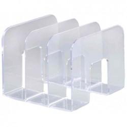 DURABLE Porte-revues TREND plastique 3 compartiments (L)215 x (P)210 x (H)165 mm Cristal