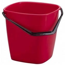 DURABLE Seau de nettoyage BUCKET, 9,5 litres, rectangulaire, Rouge