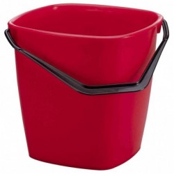 DURABLE Seau multi usages BUCKET 14 litres Rectangle Rouge