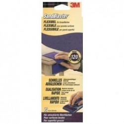 3M Lot de 2 grandes feuilles de papier abrasif flexible Grain moyen P120