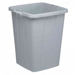 DURABLE poubelle DURABIN 90 Carrée sans couvercle L52xH61 cm 90 L Gris