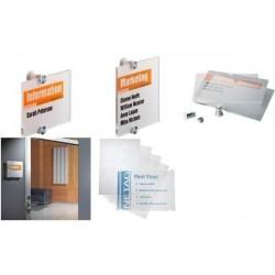 DURABLE Plaque de porte CRYSTAL SIGN, (L)105 x (H)105 mm