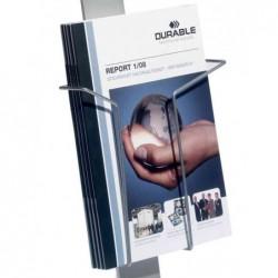 DURABLE porte-brochures, format A4, argent métallique