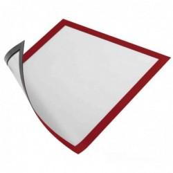 DURABLE lot de 5 Cadre d'affichage magnétique, format A4, en film dur, rouge