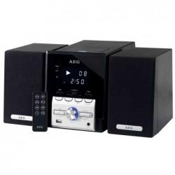 AEG Musique système compact 4443, noir / argent