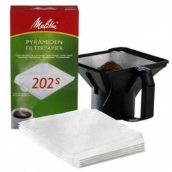MELITTA Paquet de 100 Filtres à café pyramidal 202 s MAchine à Café PRO