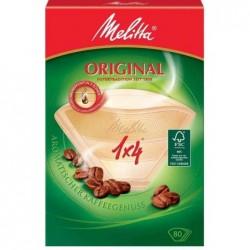 MELITTA Boite de 80 Filtre à café Papier n°4 pour cafetières DOMESTIQUE