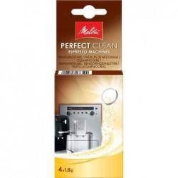 MELITTA Lot de 4 Pastilles de Nettoyage « PERFECT CLEAN » pour cafetière espresso