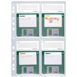 """DURABLE Pqt 5 Pochettes perforées pour 4 disquettes 3,5"""""""