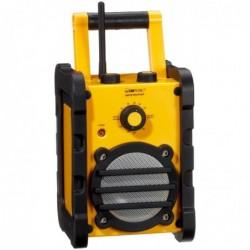 CLATRONIC Radio de chantier FM/AM jaune/noir, étanche et résistante aux chocs