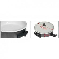 Poêle électrique céramique avec couvercle en verre diamètre 42 cm  Clatronic PP