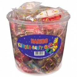 HARIBO boîte ronde de 850 g bonbons gélifiés aux fruits KINDER PARTY