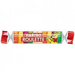 HARIBO Rouleau de 10 Bonbons Gélifiés aux fruits ROULETTE 25 g