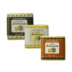 HELLMA Assortiments 165 tablettes de chocolat fins belges Noir / Blanc /Lait