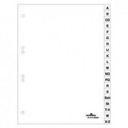 DURABLE Jeu de 24 Intercalaires avec Onglets imprimés A à Z A4 Blanc
