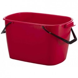 DURABLE Seau multi-usages BUCKET, 28 litres, rectangulaire, Rouge