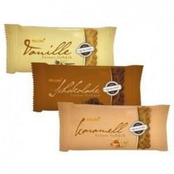 HELLMA Boite de 200 biscuits fins 3 parfums emballé unitairement