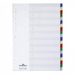 DURABLE Jeu Intercalaire Polypro A4 Multicolore 20 positions