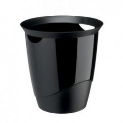DURABLE Corbeille à papier TREND 16 litres ronde 315 mm H 330 mm Noir
