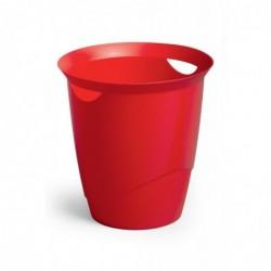 DURABLE Corbeille à papier TREND 16 litres ronde 315 mm H 330 mm Rouge