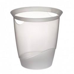 DURABLE Corbeille à papier TREND 16 litres ronde 315 mm H 330 mm Transparente