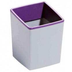 DURABLE Pot à crayons Varicolor en ABS - Dimensions : L7,9 x H10 x P7,9 cm coloris violet gris