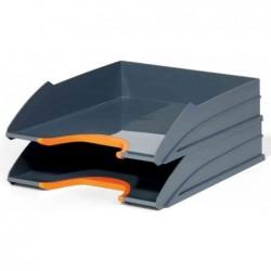 DURABLE Kit de 2 bacs à courrier VARIOCOLOR, gris / orange