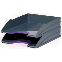 DURABLE Kit de 2 bacs à courrier VARIOCOLOR, gris / lilas