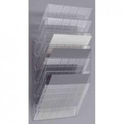 """DURABLE Kit 6 porte brochures """"FLEXIBOXX 6"""" A4 Paysage Extensible Transparent"""