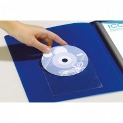 DURABLE Pochette DC/DVD autocollante Avec rabat Lot de 10