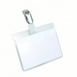 DURABLE Lot de 25 badges porte-nom avec clip rotatif 90 x 60 mm