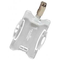 DURABLE Boite de 25 Porte-cartes de sécurité ouvert avec Clip 54 x 85 mm Transparent