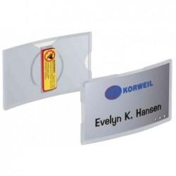DURABLE Pqt de 25 Badges KONVEX, avec aimant, 75 x 40 mm