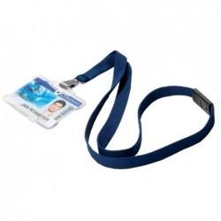 DURABLE paquet de 10 lacets textile SOFT COLOURS, bleu