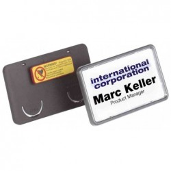 DURABLE Porte-badge Clip-Card, avec aimant, 75 x 40 mm Noir