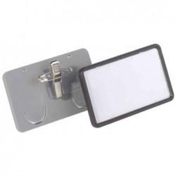 DURABLE Porte-badges Clip-Card, avec pince combi, 75 x 40 mm
