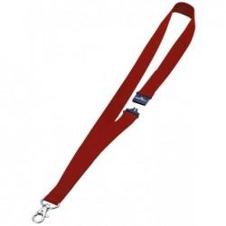 DURABLE Boîte de 10 lacets textile 44cm pour porte-noms avec mousqueton Rouge