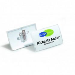 DURABLE Boite de 25 Porte-badge Click Fold avec pince combi 75 x 40