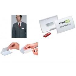 DURABLE Badge Click Fold, avec aimant, 90 x 54 mm, flexible
