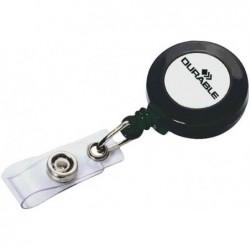 DURABLE Porte-badge enrouleur 80 cm avec bouton pression anthracite