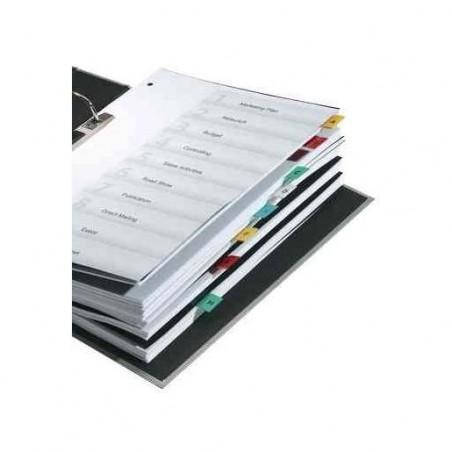 DURABLE Sachet de 5 Onglets autocollants TABFIX 200 x 13 mm à découper Transparent