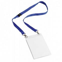DURABLE Bte de 10 Badges évènementiels avec ruban en tissu A6 Bleu