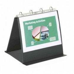 DURABLE Chevalet Protège document de table Avec 10 pochettes A4 Paysage