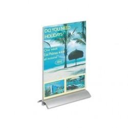 DURABLE Présentoir de table base aluminium/ plaque transparente A4