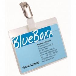 DURABLE Boite de 5 Porte-badge avec  Clip 90 x 60 mm Transparent